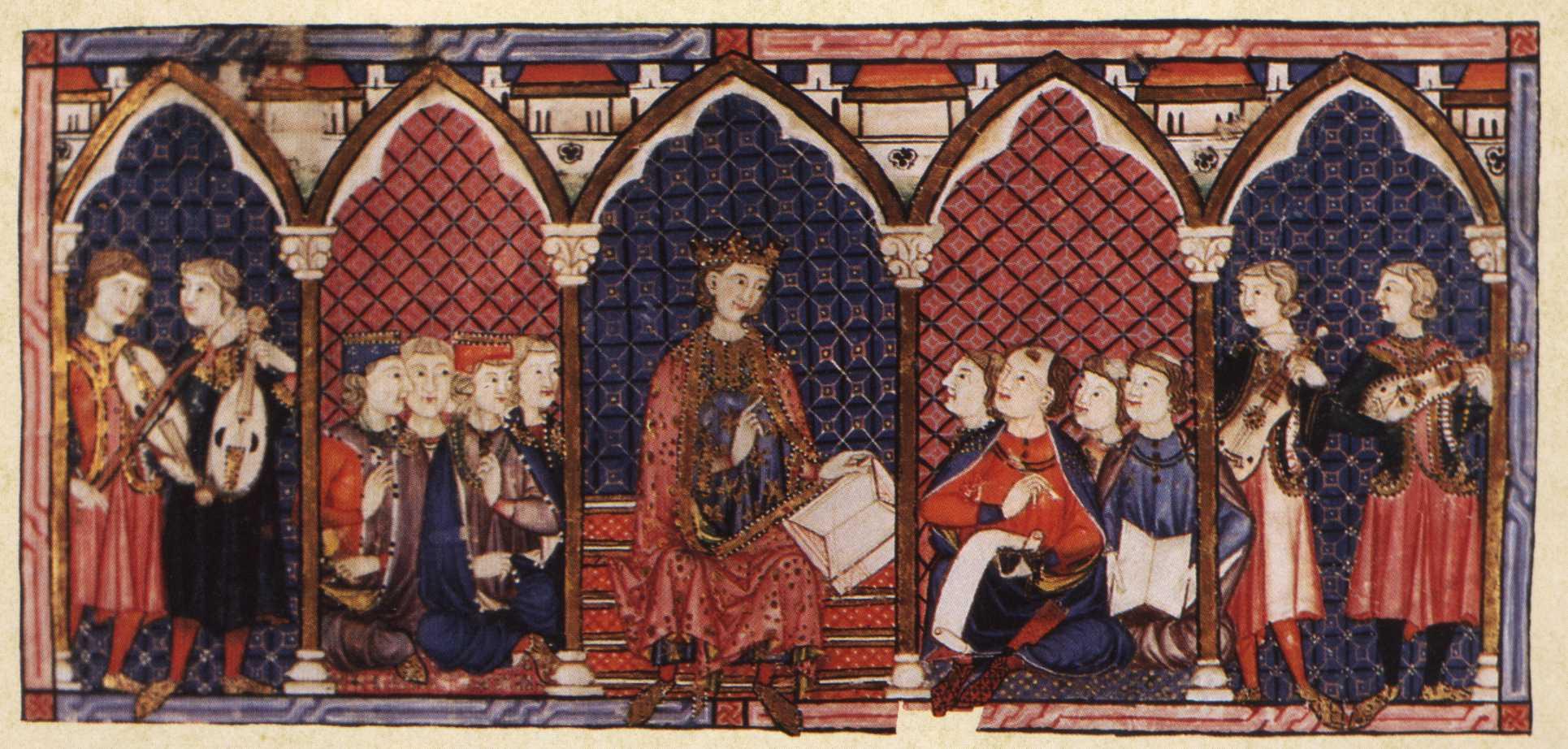 Alfonso el Sabio e la sua corte