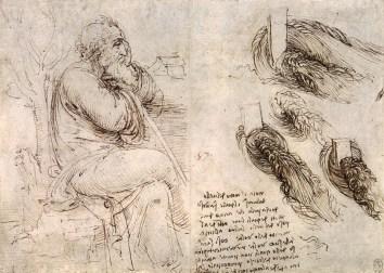 Leonardo Da Vinci used line to create this sketch.
