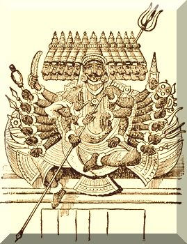 English: Sketch of Ravana