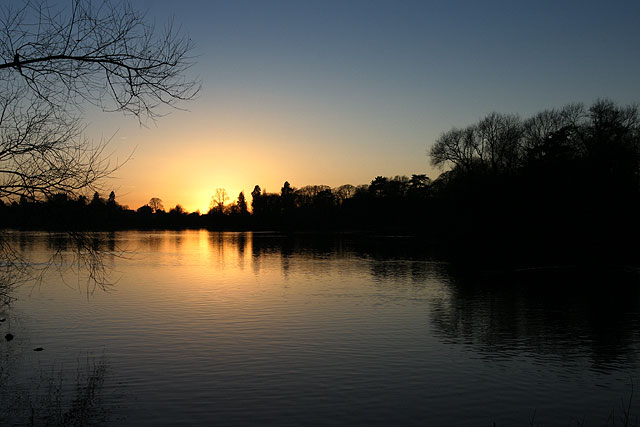 English: The Mere, Ellesmere Ellesmere, across...