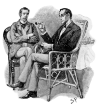 Sherlock Holmes (r) and Dr. John B. Watson. Fr...