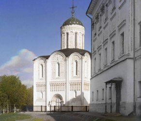 La Cattedrale di Demetrio a Vladimir è il luogo dove è stata girata la scorreria dei Tartari