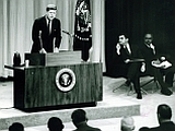 First Live Televised Presidential Press Conference