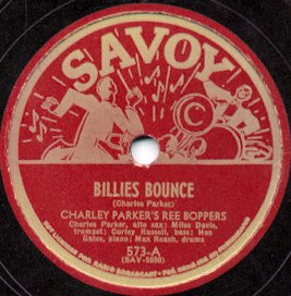 English: Savoy Records, label of a 78 rpm gram...