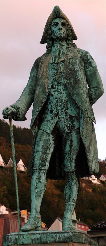 Statue of Holberg in Bergen, Norway