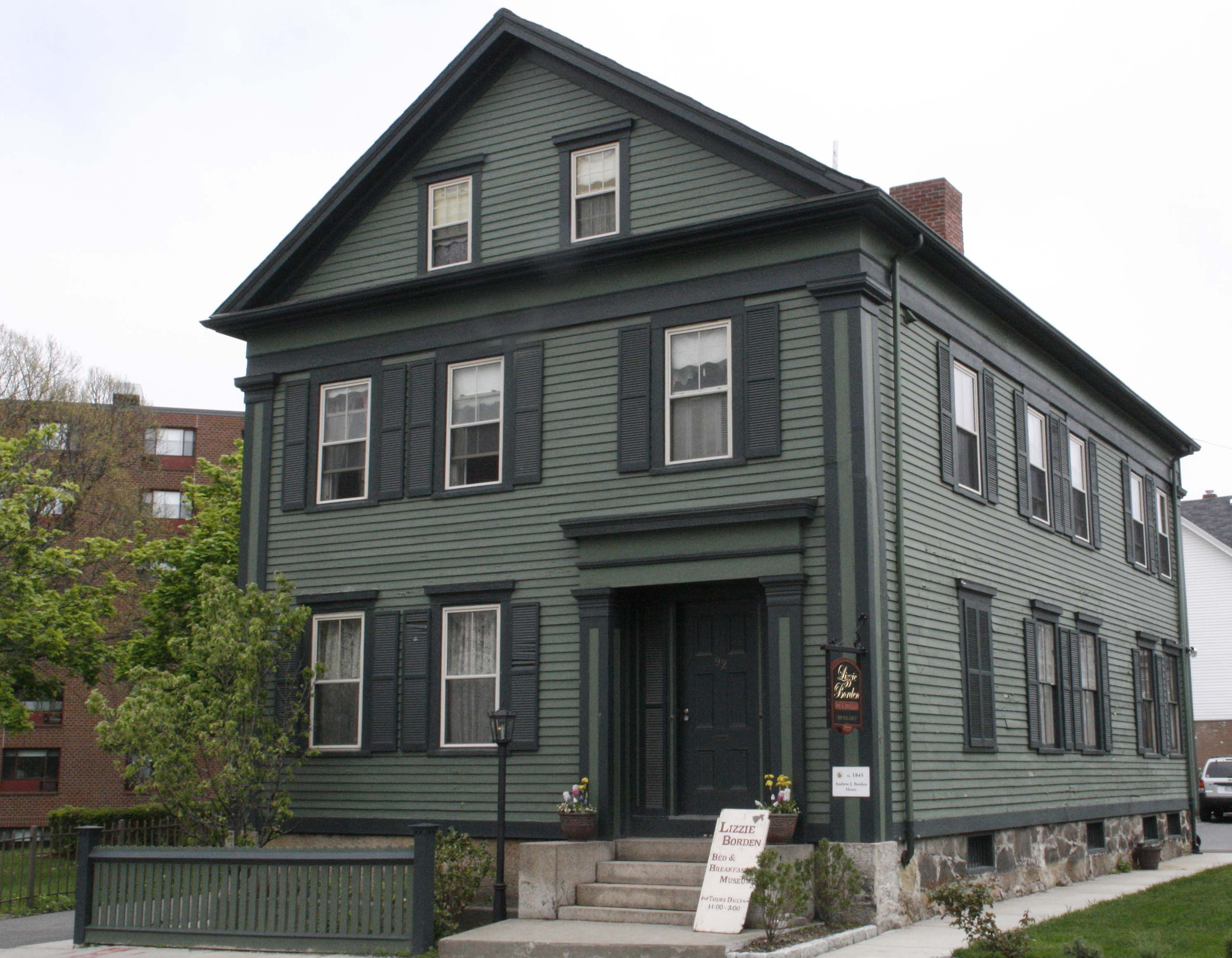 The Lizzie Borden House in Fall River, Massachusetts