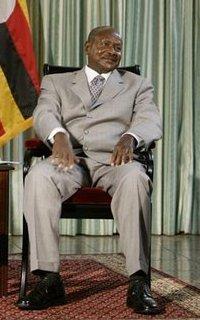 Ugandan President Yoweri Museveni, Entebbe, Ju...