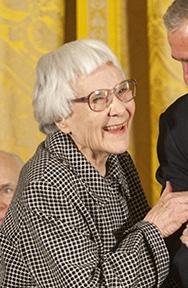 US writer Harper Lee during Medal of Freedom c...