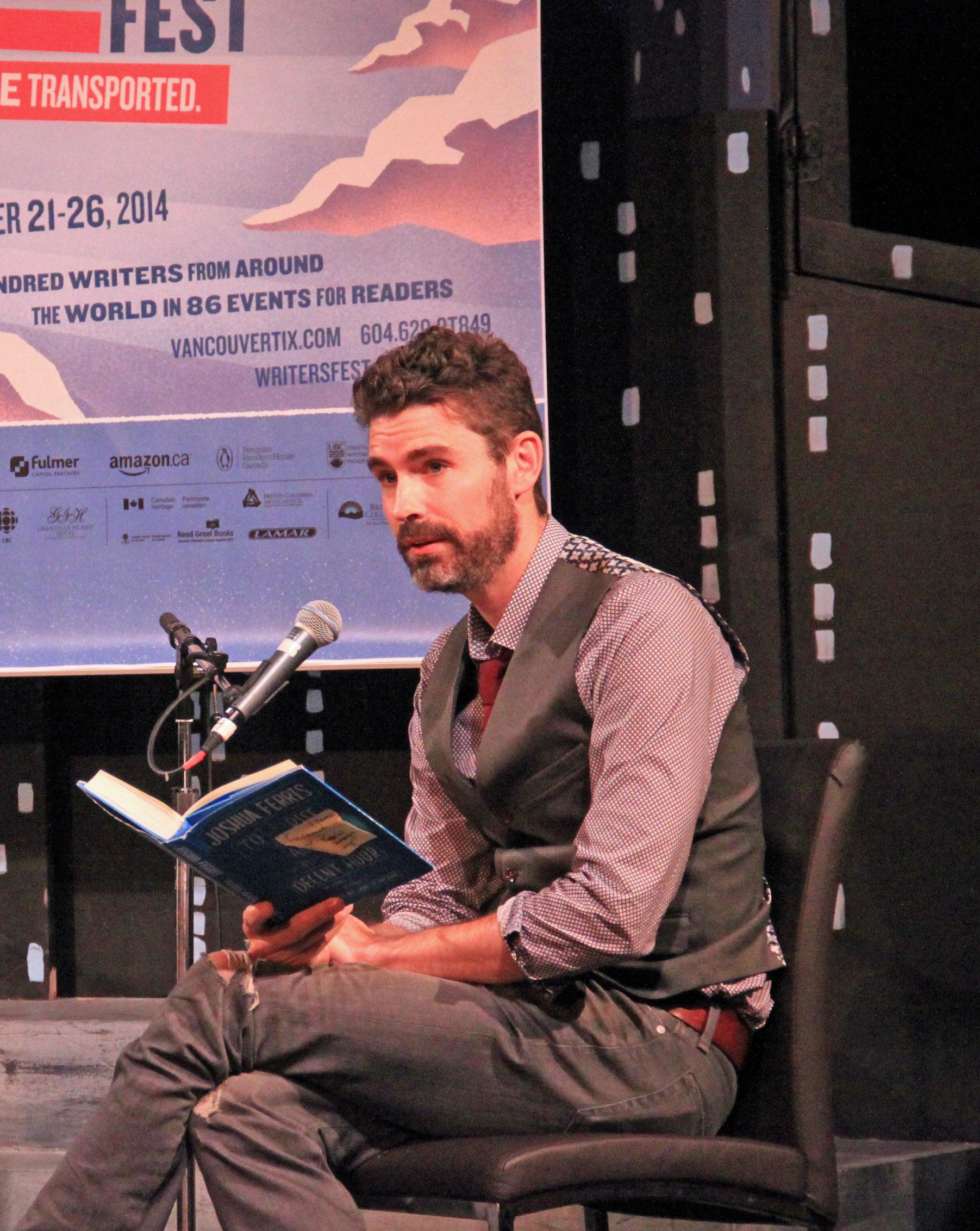 Joshua Ferris At The 2014 Festival Photo Credit: Us Embassy Canada
