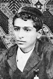 Meher Baba (Merwan Irani) as a boy in Pune, In...
