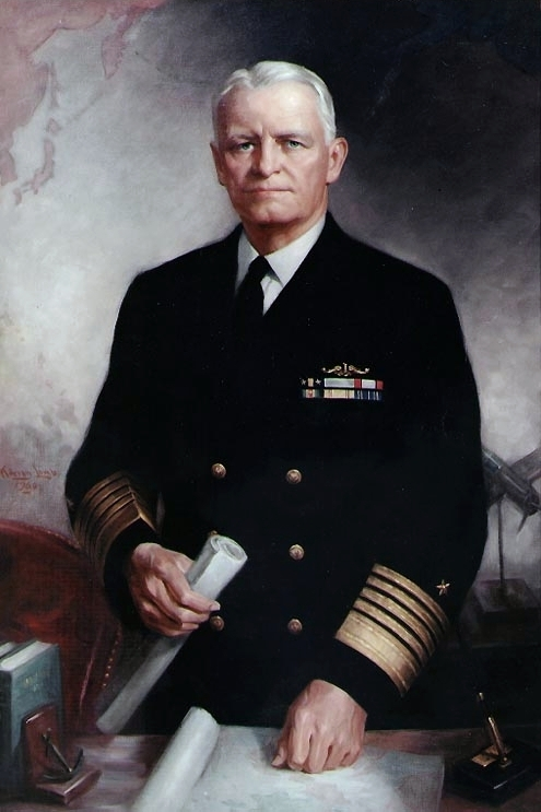 Fleet Admiral Chester W. Nimitz, USN Oil on canvas, 46.5