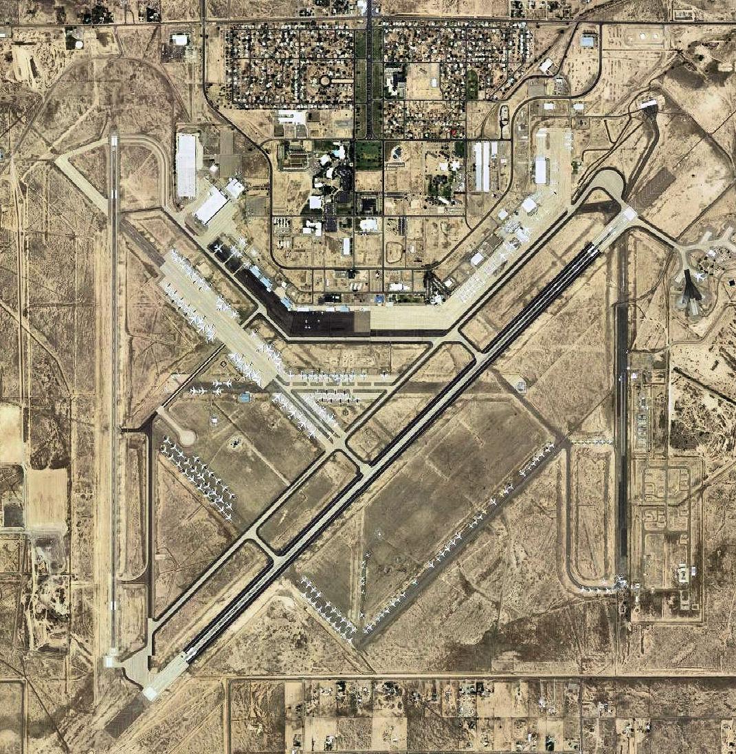 California Air Bases Map