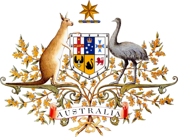 Image result for Australian coat of arms.