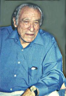 Bukowski en su casa de San Pedro en 1990, con ...