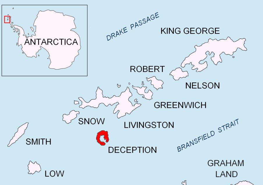 Deception Island, mappa