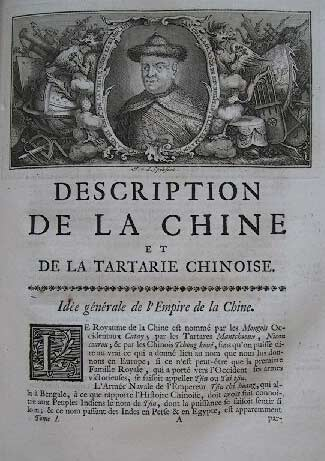 Jean-Baptiste Du Halde, A Description of the Empire of China and Chinese-Tartary, 1738.
