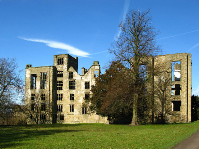 English: Hardwick Old Hall Birthplace of Bess ...