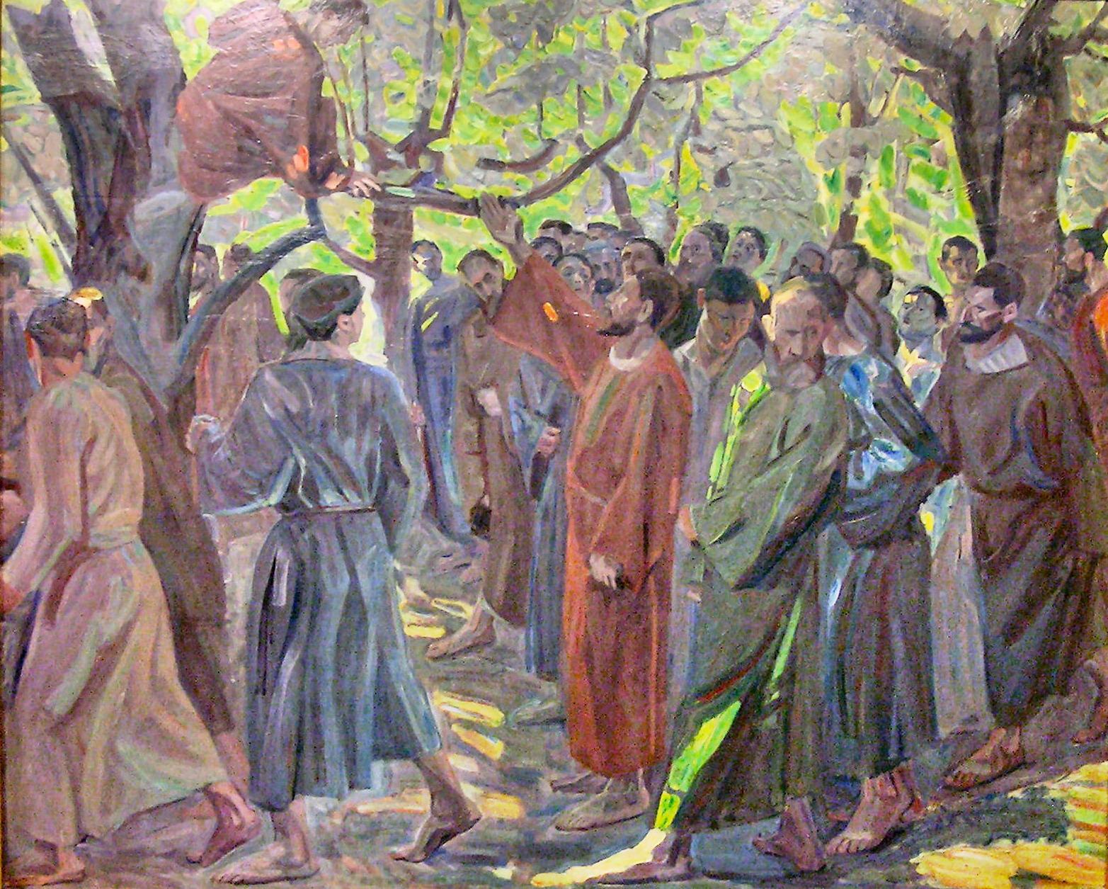 Zacchaeus by Niels Larsen Stevns, Wikipedia