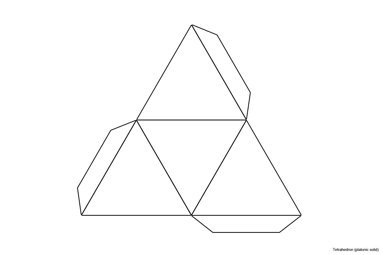 File Foldable Tetrahedron Blank