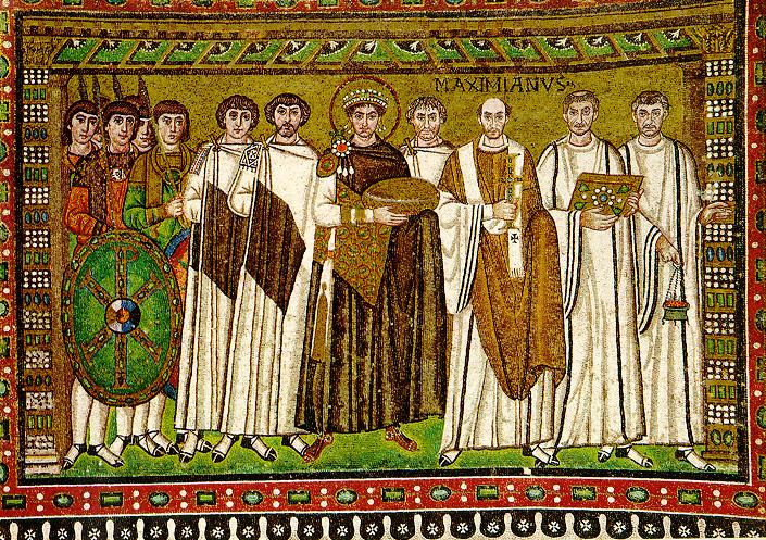 The Emperor Justinian and his retinue.
