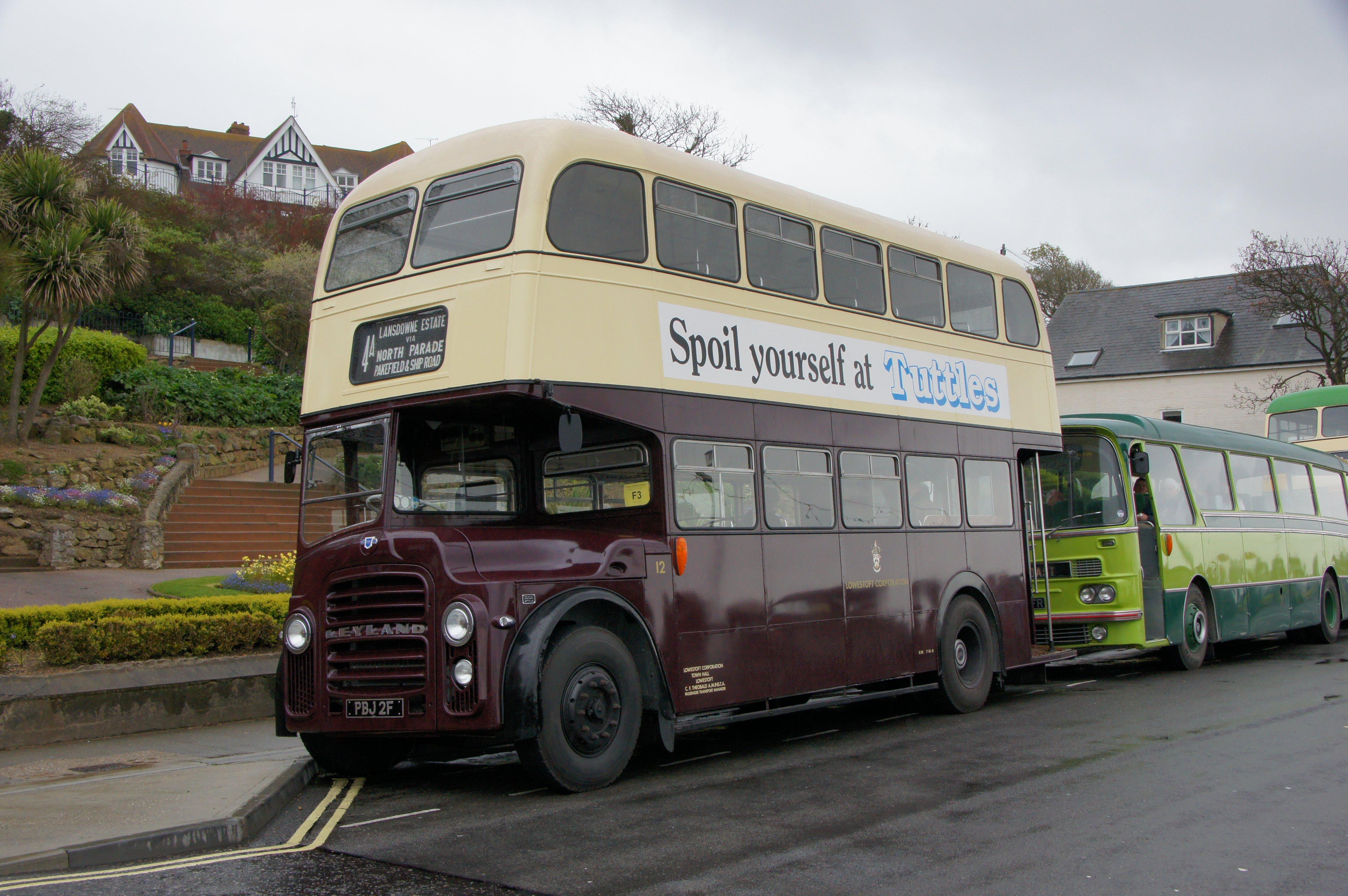 File:Lowestoft Corporation bus 12 (PBJ 2F), Felixstowe, 2 May 2012.jpg - Wikimedia Commons