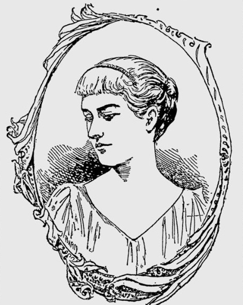 A sketch of Lucile from the newspapers when she was turning 18 years old.