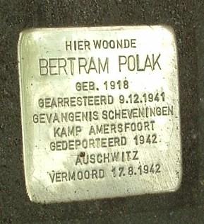 Nederlands: Stolperstein voor Bertram Polak, T...