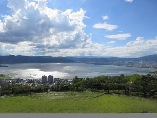 Your Name (kimi no na wa) Locations: view of the Lake Suwa from Tateishi Park