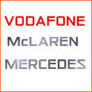 English: Vodafone mclaren mercedes f1 logo Pol...
