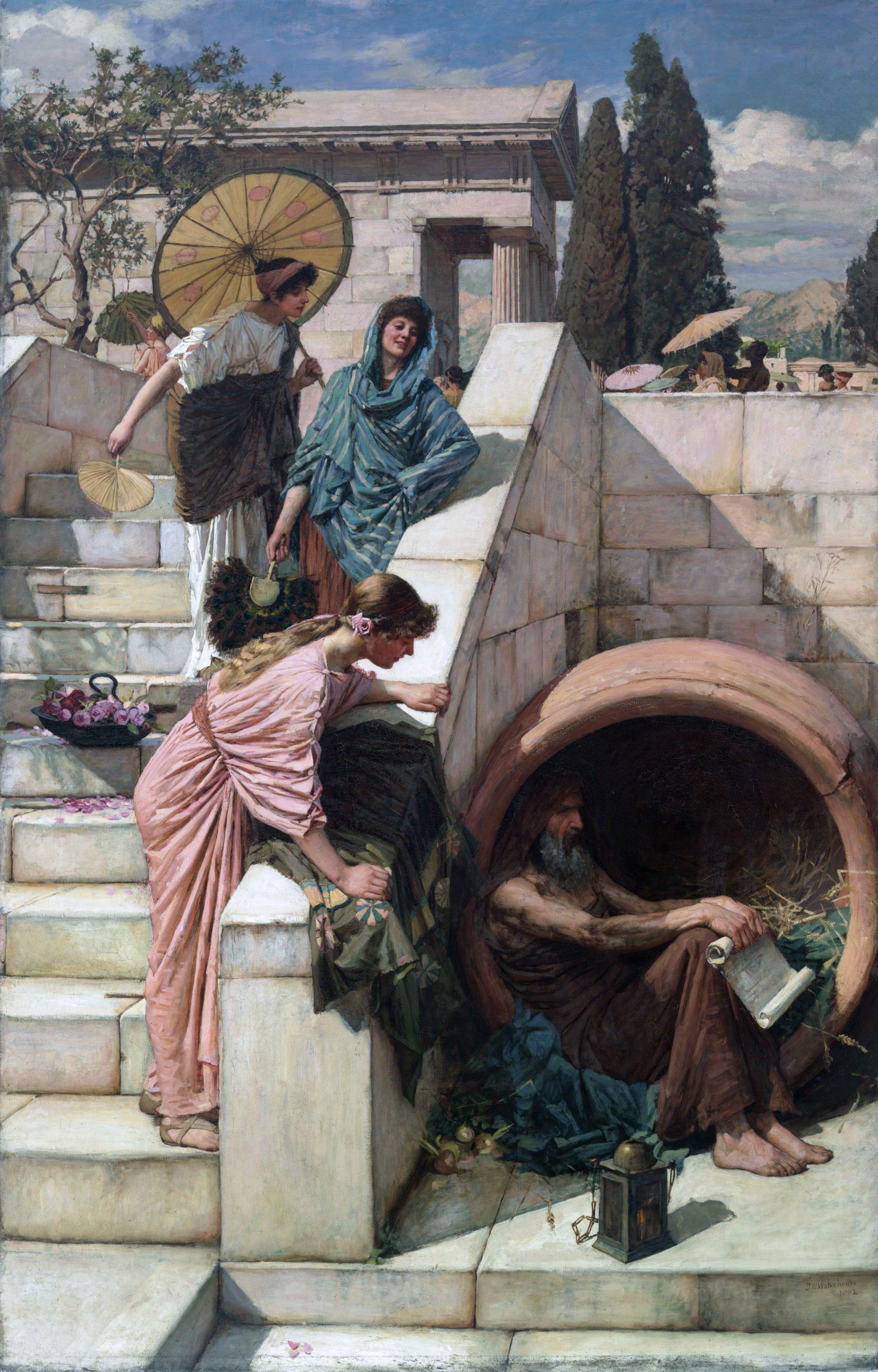 Diogène de Sinope par John William Waterhouse.