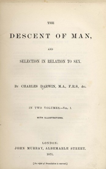 Image:Darwin - Descent of Man (1871).jpg