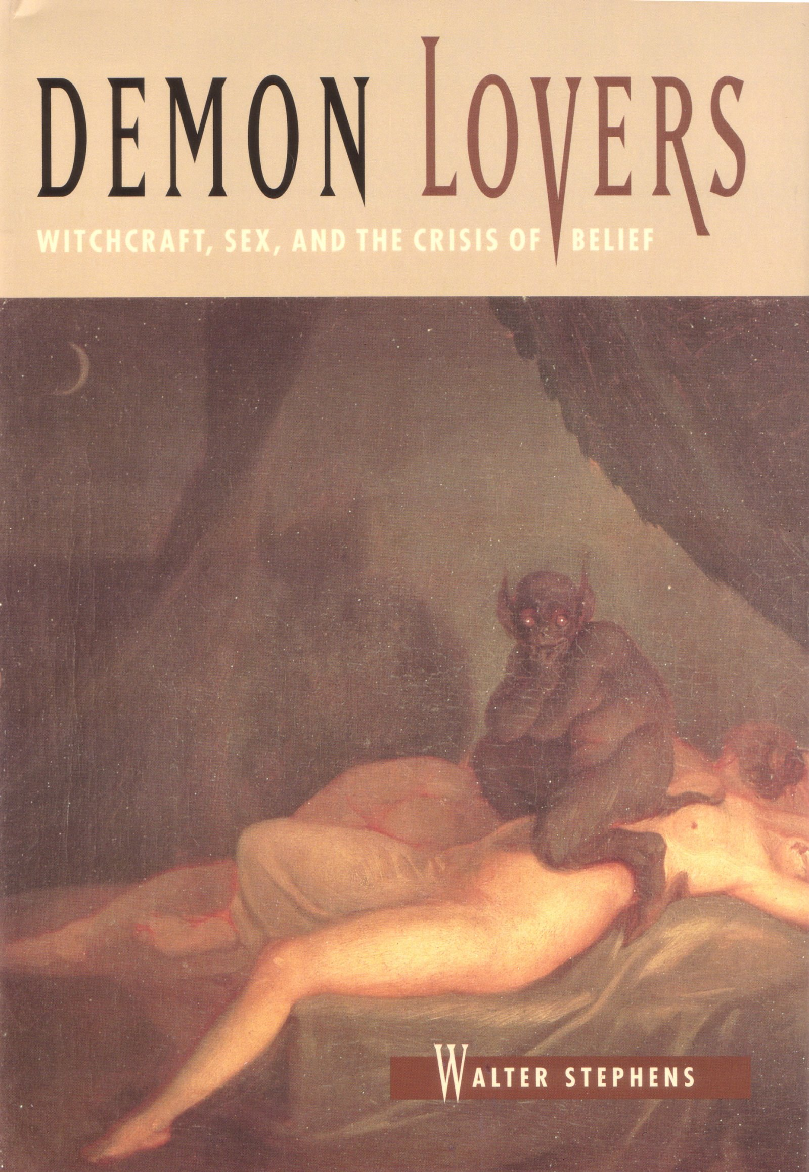 Cover des Buches Demon Lovers, Bild von Nicolai Abildgaard (Nightmare), Public Domain