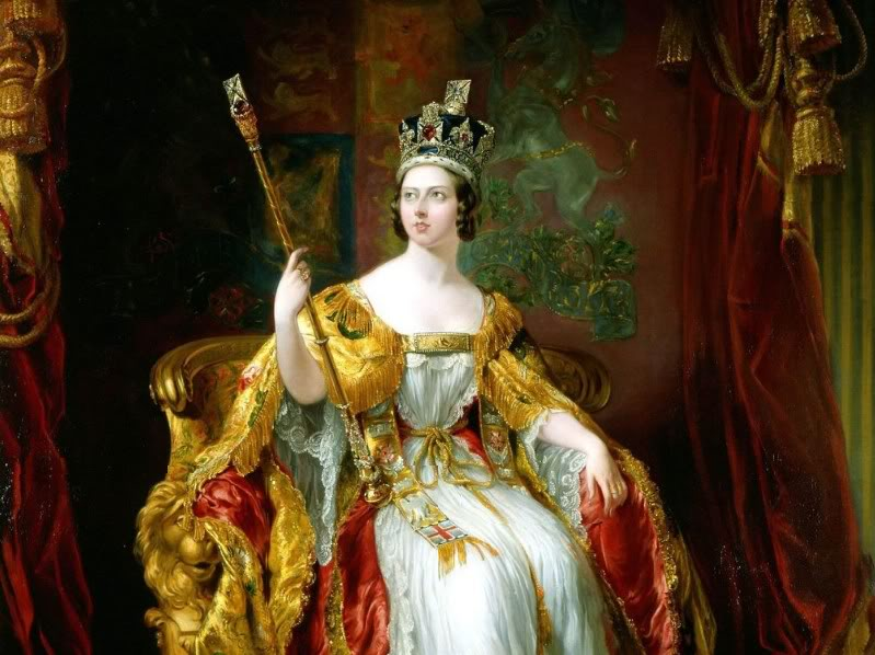 Queen Victoria (State portrait) by Sir George ...