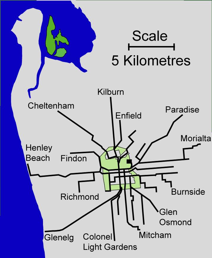 Adelaide Tram Network 1950s