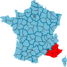 Carte Localisation Region France Provence-Alpe...