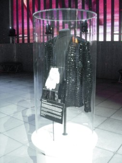 The jacket and gloves worn by Michael Jackson at Motown 25