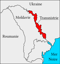 Localisation de la Transnitrie.