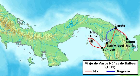 Archivo:Balboa Voyage 1513.PNG