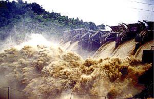 This photograph shows Lago de Loíza Reservoir ...