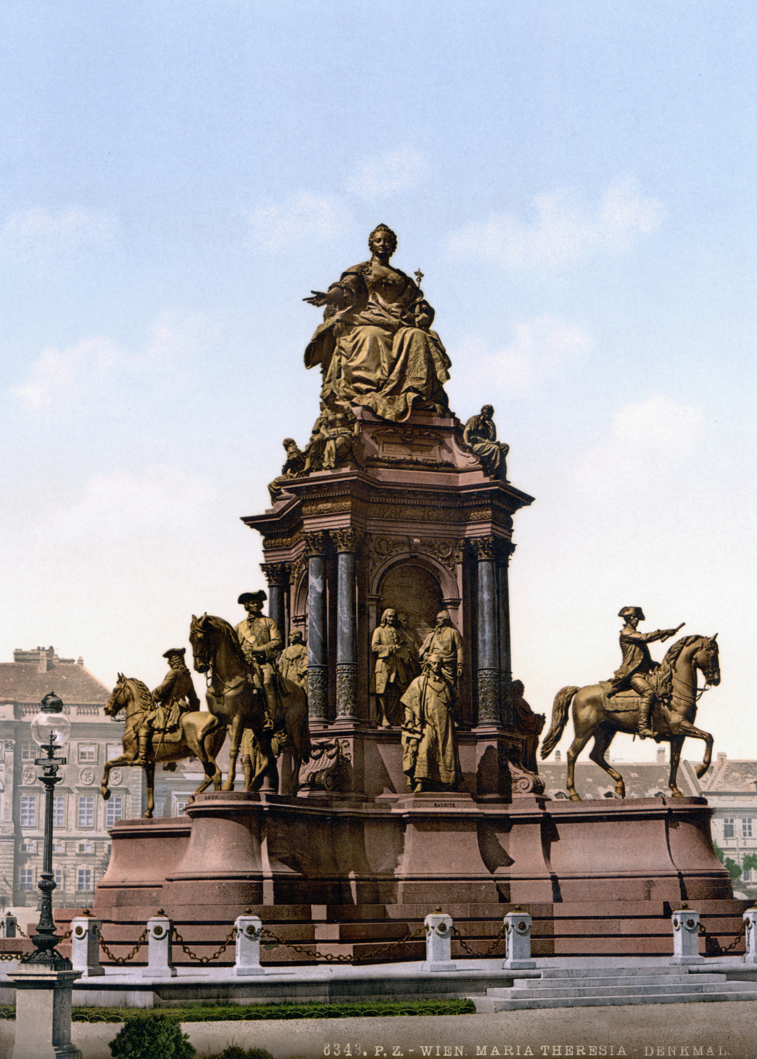 Maria Theresa monument in Vienna, surrounded by her advisers.