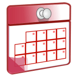 Clipart image of a blank calendar
