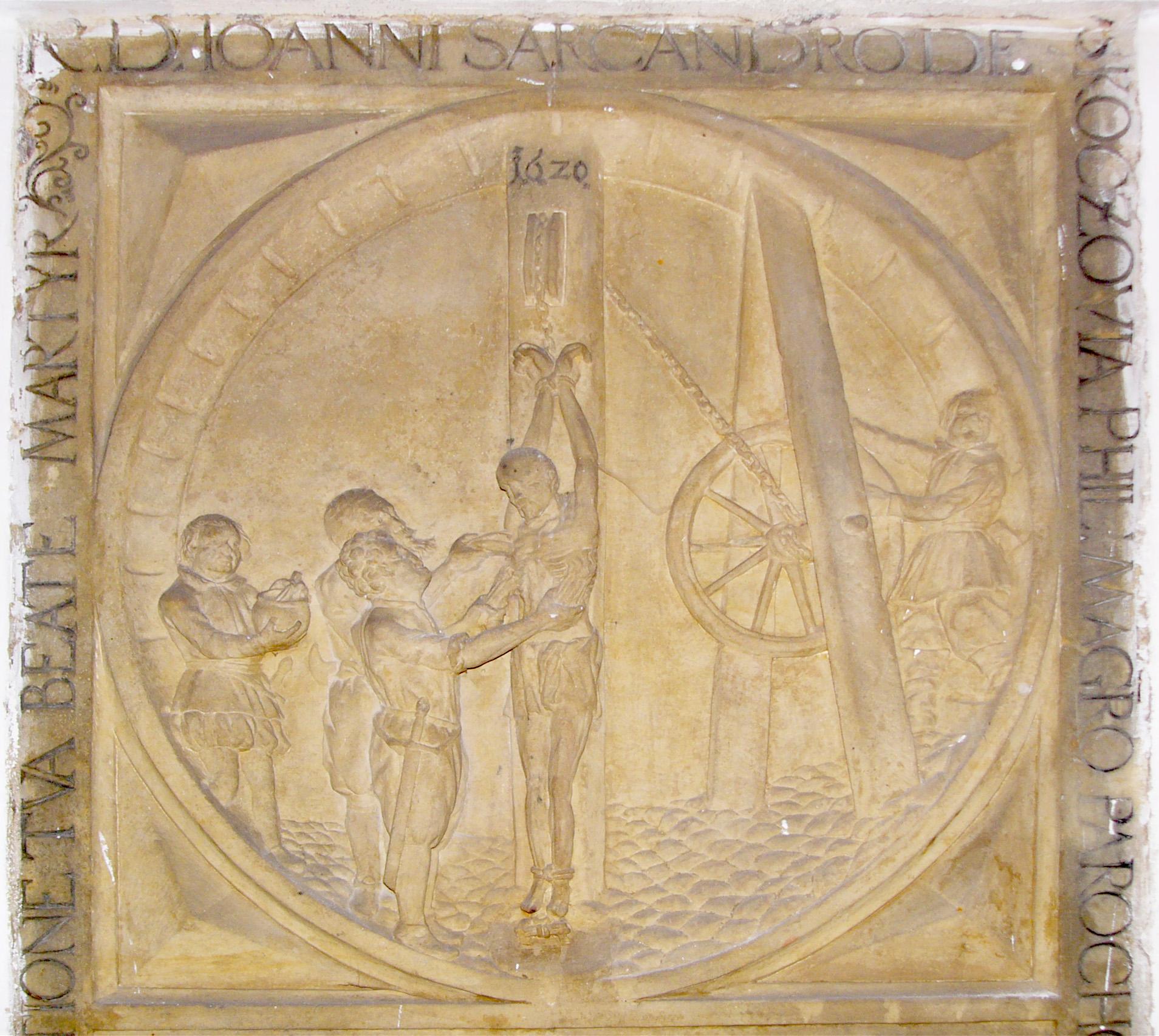 Saint John Sarkander epitaph