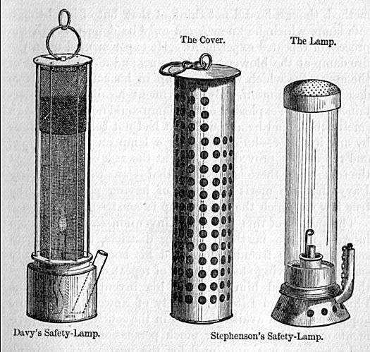 Safety lamps of the 19th century - Davy and Stephenson designs