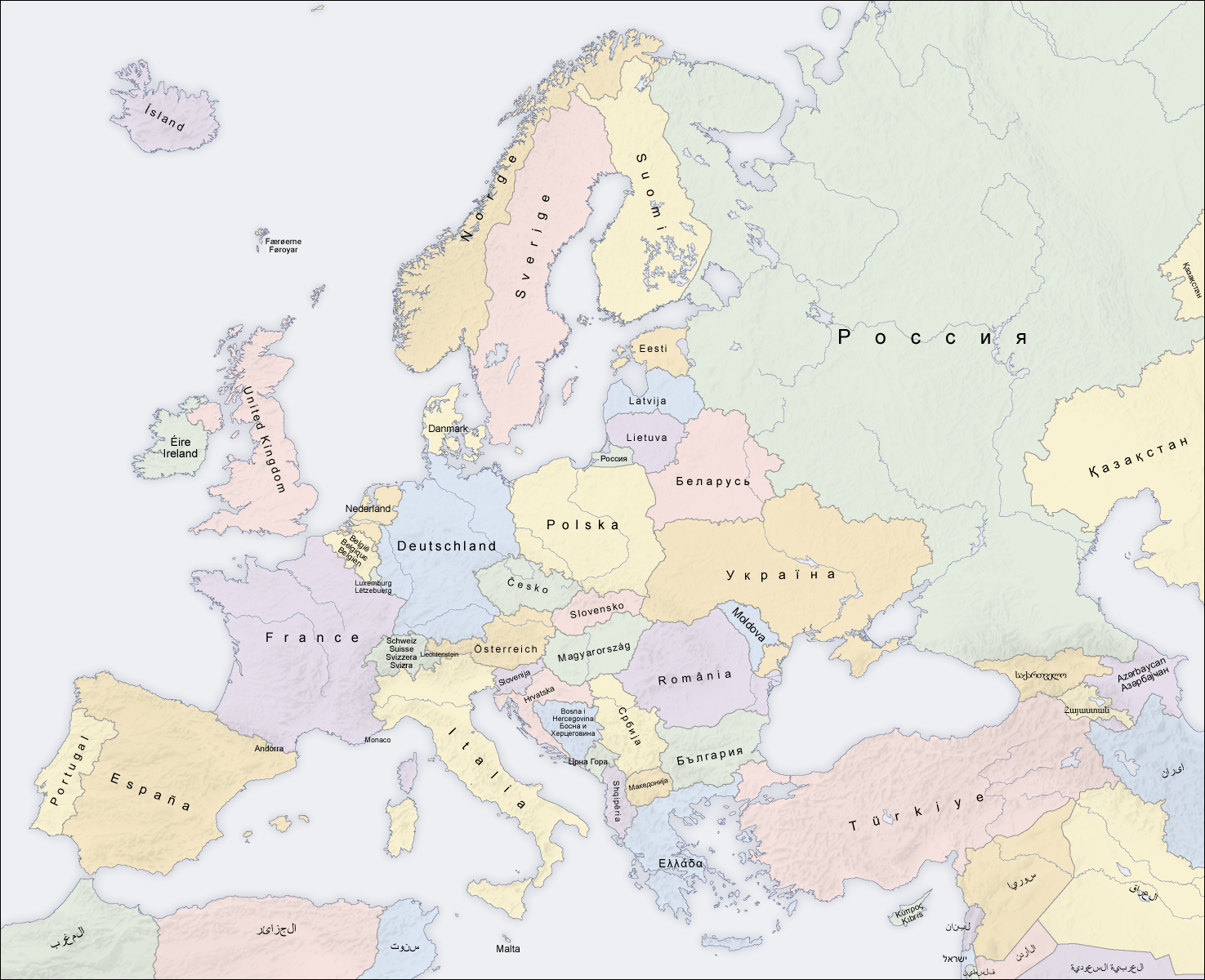 Europe Estates Countries