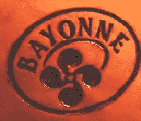Sceau du conortium du Jambon de Bayonne appliq...
