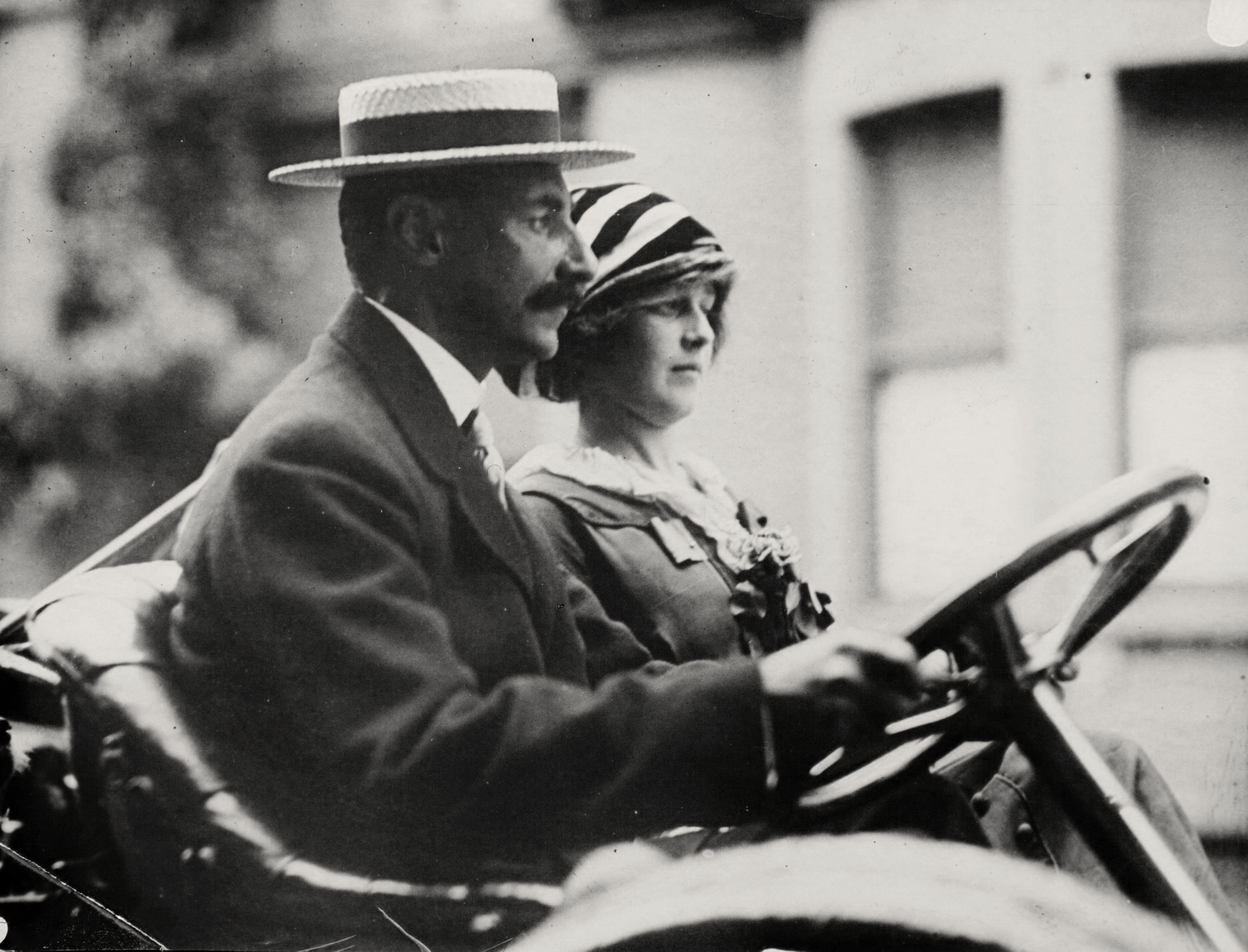 John Jacob Astor IV and his wife Madeleine, th...