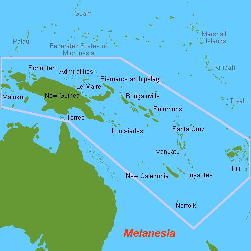 Resultado de imagem para Nova Guiné Salomão, Santa Cruz, Vanuatu e Bouganville