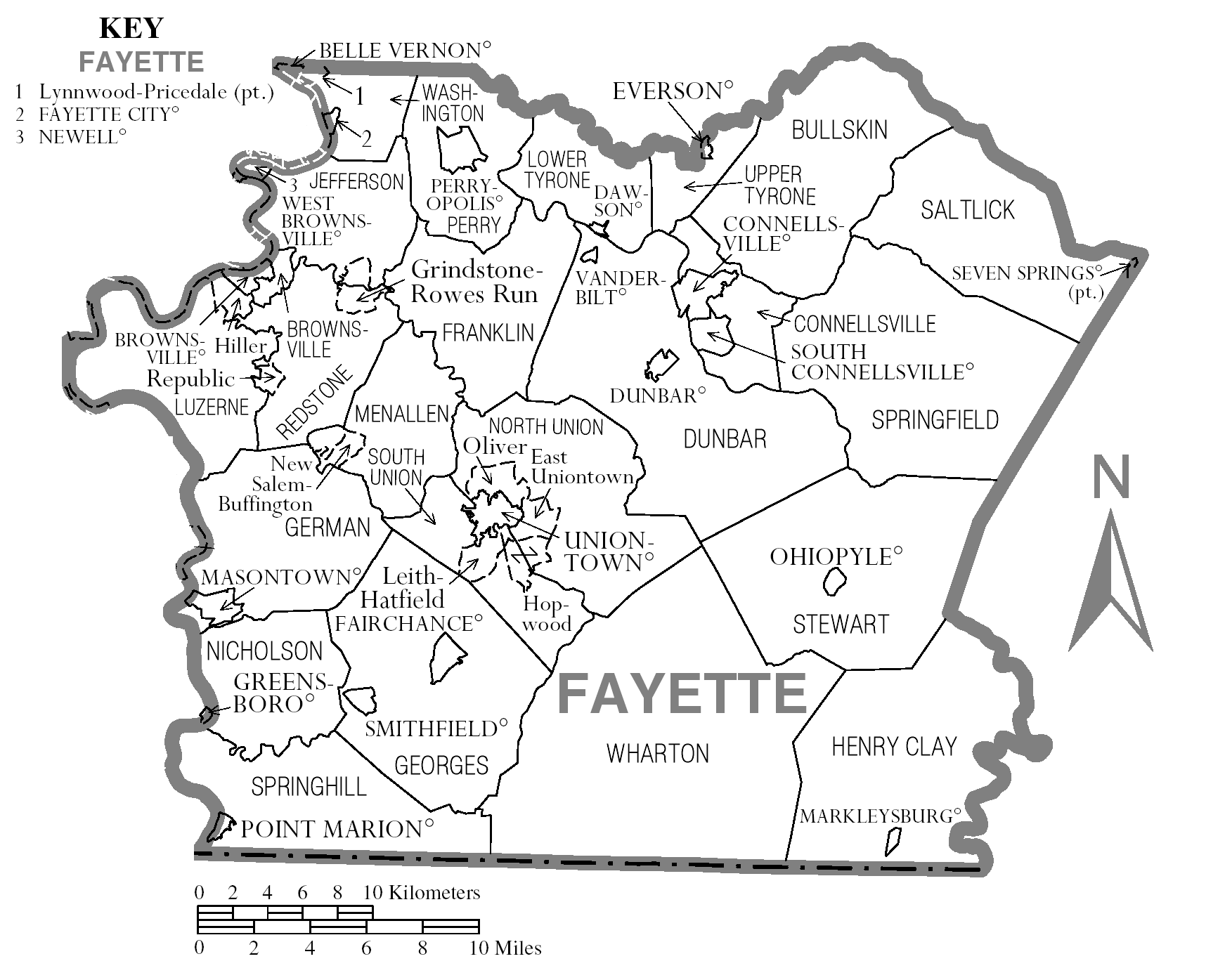 File Map Of Fayette County Pennsylvania
