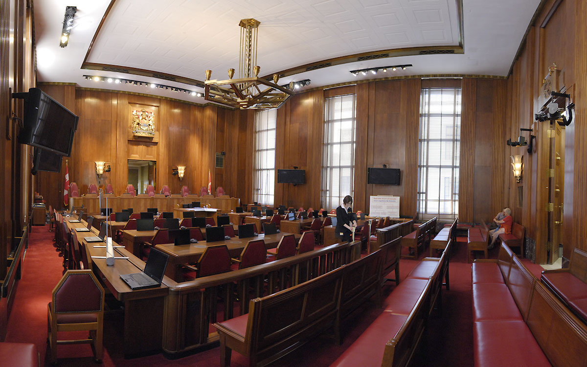 English: Supreme Court of Canada audience cham...
