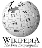 Wikipedia logo: a globe made of puzzle pieces, each depicting a different language glyph